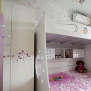 儿童卧室双层床装修隔断图
