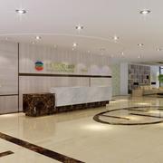 大厅形象墙设计装修地板图