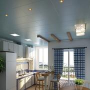 厨房橱柜设计装修吊灯图