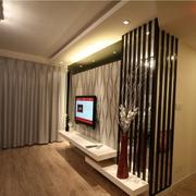 现代简约电视背景墙设计隔断图