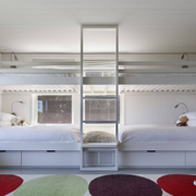 儿童卧室双层床装修整体图