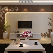 硅藻泥背景墙设计客厅图