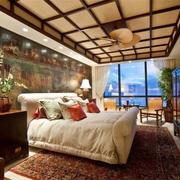 中式卧室吊顶装修造型设计