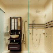 洗手间玻璃隔断色调搭配