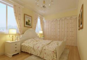 两居室韩式简约清新卧室装修效果图