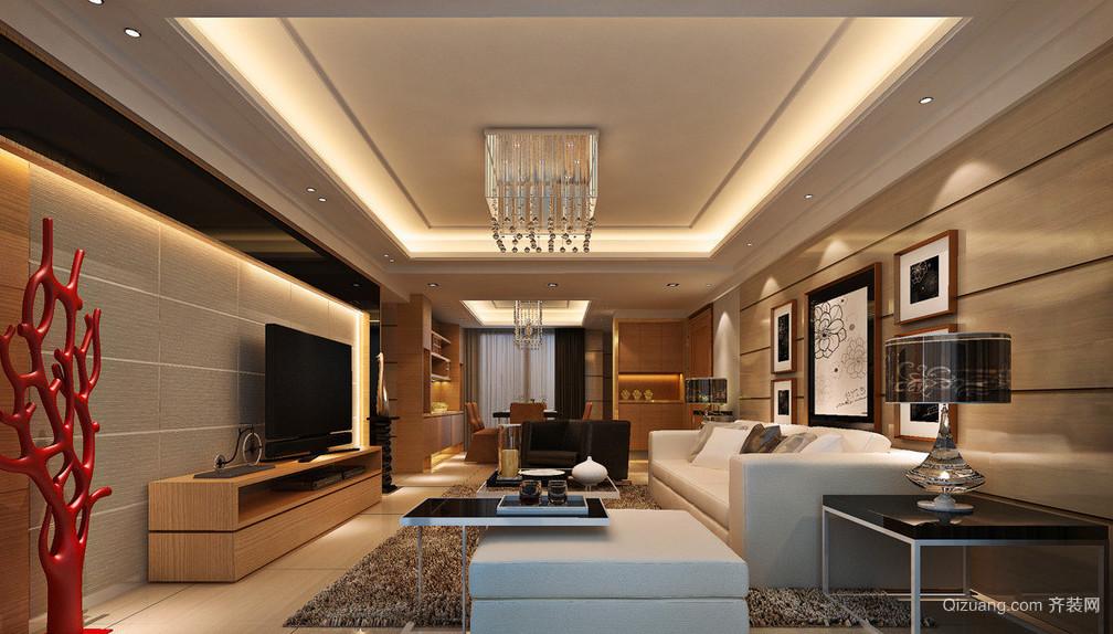 大方得体的现代客厅电视背景墙装修效果图欣赏