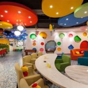 儿童主题餐厅装修吊顶图
