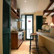 厨房橱柜设计装修吊顶图