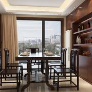 餐厅酒柜设计装修桌椅图