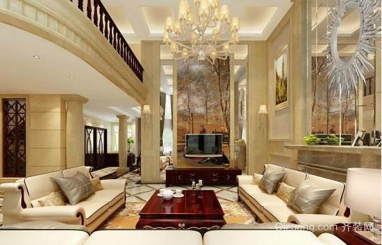 奢华大气欧式客厅装修设计效果图