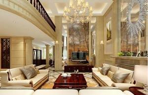 欧式风格客厅装修吊顶图