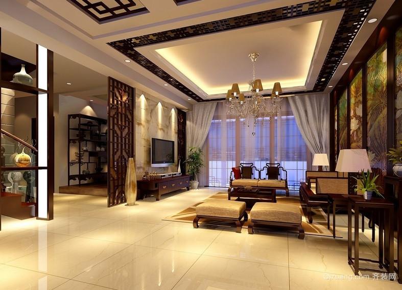 2015气氛温馨的现代中式客厅装修效果图