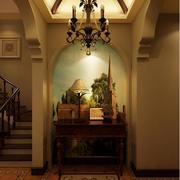 美式乡村风格客厅暖色图