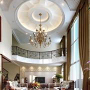复式楼客厅装修吊顶图