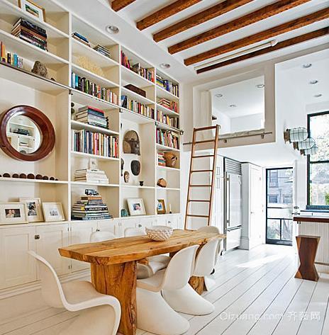浪漫法式阁楼书房装修效果图