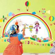 儿童房卧室壁纸装修色调搭配