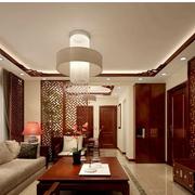 中式风格客厅装修吊顶图