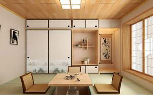 复式楼东南亚卧室榻榻米装修效果图