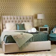 卧室壁纸装修台灯图
