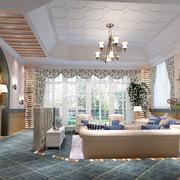 地中海风格客厅整体设计