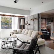 客厅吊顶造型装修窗帘图