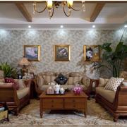 东南亚风格客厅装修背景墙