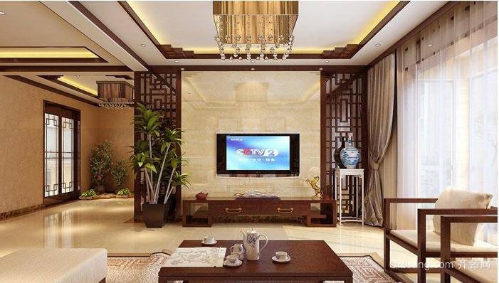 精致大气的中式客厅装修设计效果图