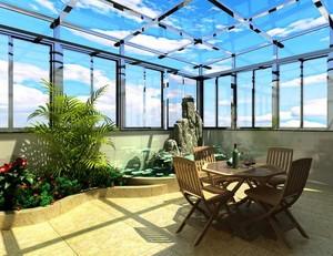 温暖阳光房阳台花园装修效果图