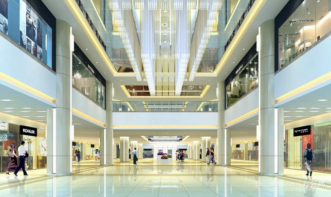 2015新潮流现代商场大堂装修设计效果图