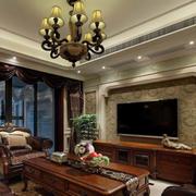 美式风格客厅装修背景墙设计