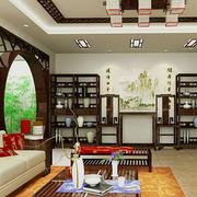 中式博古架背景墙装修