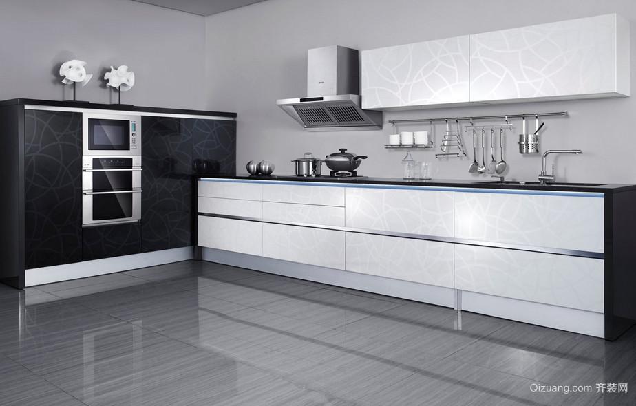 三居室整洁简约的厨房欧派橱柜装修效果图