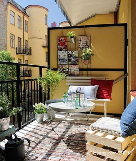 冬暖夏凉的现代简约风格阳台装修效果图