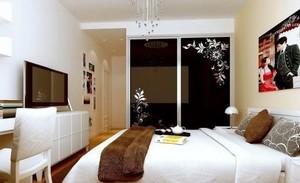卧室壁纸装修隔断图