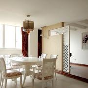 韩式风格餐厅装修桌椅图
