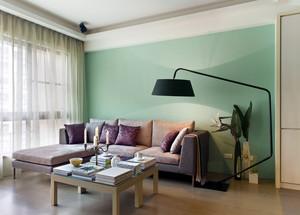 80平米精致小户型客厅飘窗设计装修效果图