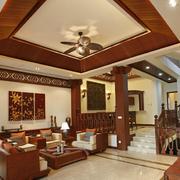 东南亚风格客厅吊顶图