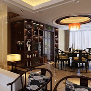中式风格餐厅装修吊灯图