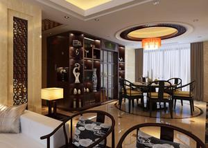 精美大气的中式餐厅装修效果图