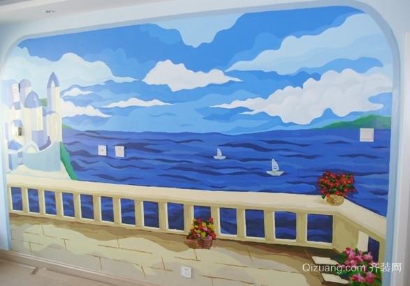 地中海风格幼儿园壁画图片