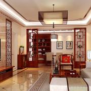 中式风格客厅装修吊灯图
