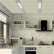欧式厨房石膏板吊顶效果图