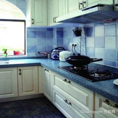 别墅地中海风格厨房装修效果图