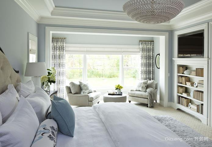 简单明了北欧式小卧室装修效果图