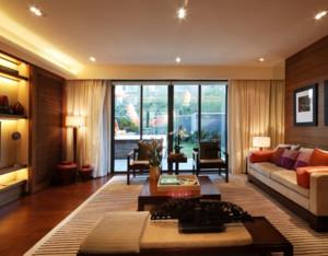 90平米别致优雅的中式客厅装修效果图