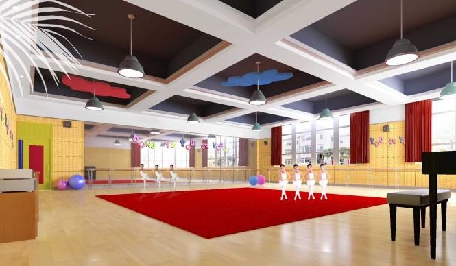 幼儿园舞蹈室装修设计效果图 教室布置网图片