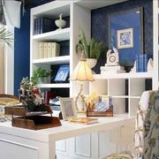 地中海风格书柜设计图