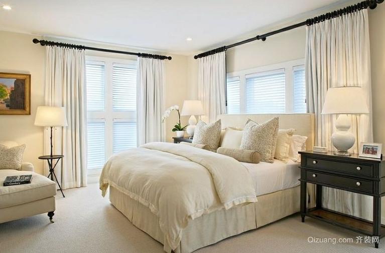 法式复式楼卧室榻榻米装修效果图