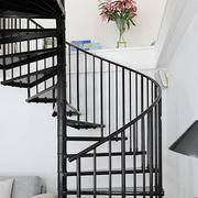 旋转楼梯装修色调搭配