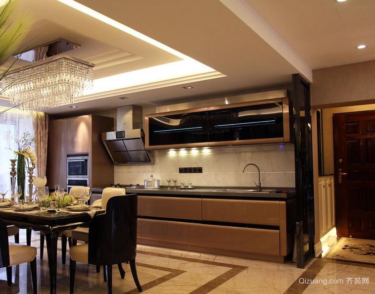 90平米大户型欧式开放式厨房装修效果图